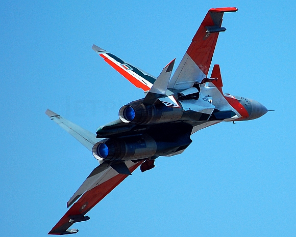A Sukhoi-30 MKI fighter jet