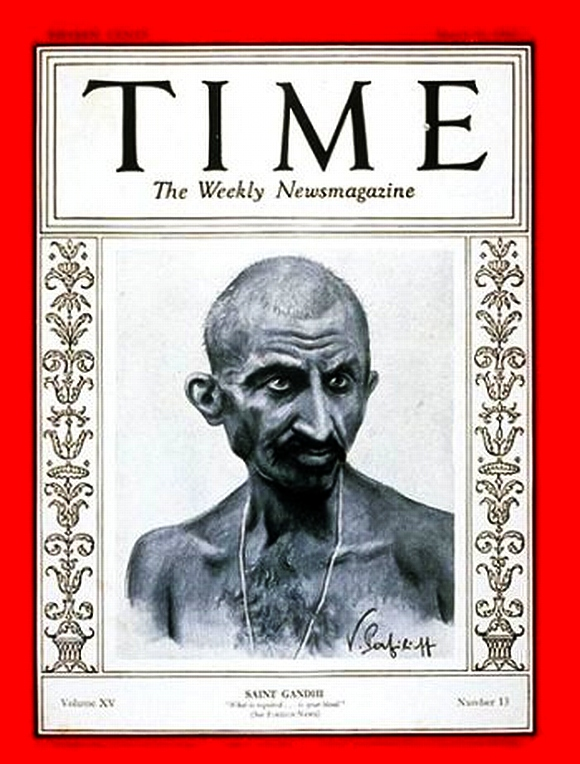 Mahatma Gandhi depicted as Saint Gandhi, March 31, 1930