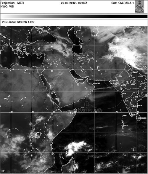 Satellite imagery from Kalpana -1 satellite