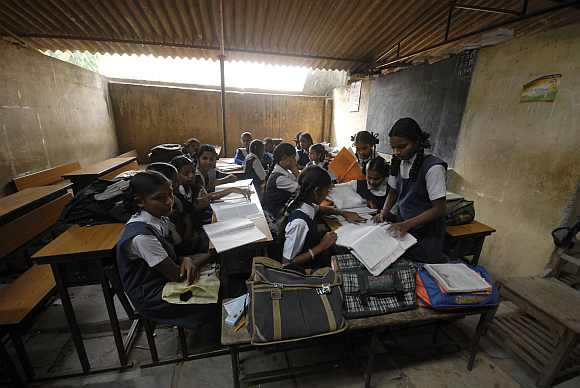 A government-run school in Hyderabad