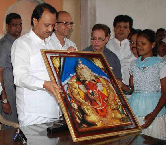 Sarode with Maharashtra Deputy CM Ajit Pawar