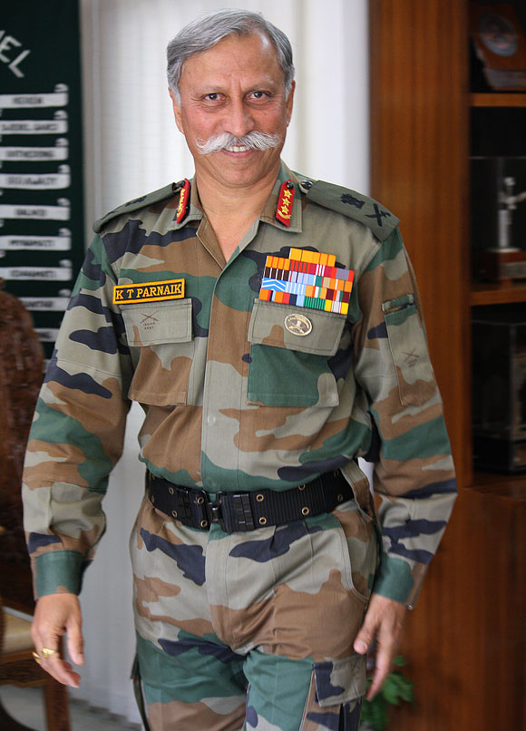 Lieutenant General K T Parnaik, PVSM, UYSM, heads the Northern Command and is the third highest ranking officer in the Indian Army