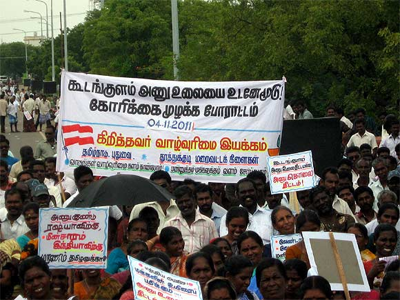 Protest against the Koodankulam Nuclear Power Project