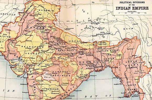 Archival map of the British Indian empire from Imperial Gazetteer of India