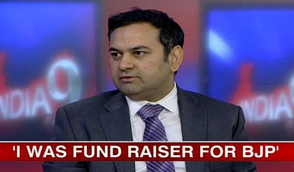 Video grab of Anshuman Mishra being interviewed on CNN-IBN