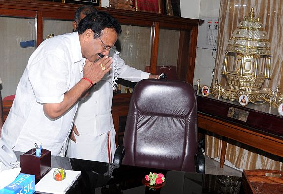File photo of Karnataka Chief Minister D V Sadananda Gowda