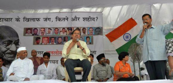 Team Anna at Jantar Mantar in New Delhi