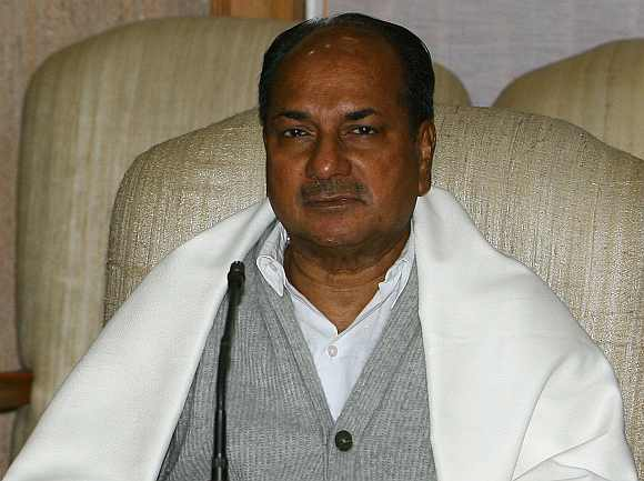 Defence Minister AK Antony