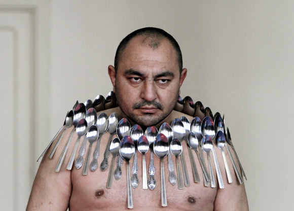 Most spoons on a human body