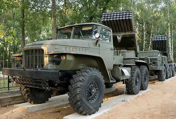 A Russian-made Kraz truck