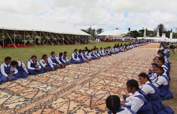 PHOTOS: Grand farewell for Tonga's King George Tupou V