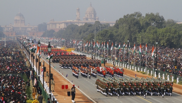 Army's soldiers march during the Republic Day parade in New Delhi