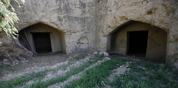 A view of tunnel-like rooms in Chak Shah Mohammad village in Haripur district, Pakistan