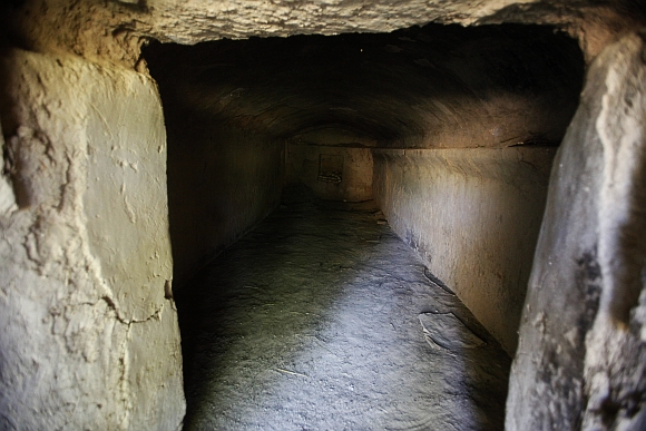 A general view of a tunnel-like room in Chak Shah Mohammad village in Haripur district