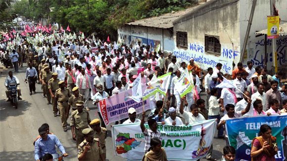 A rally organised in Hyderabad asking people not to resort to suicide