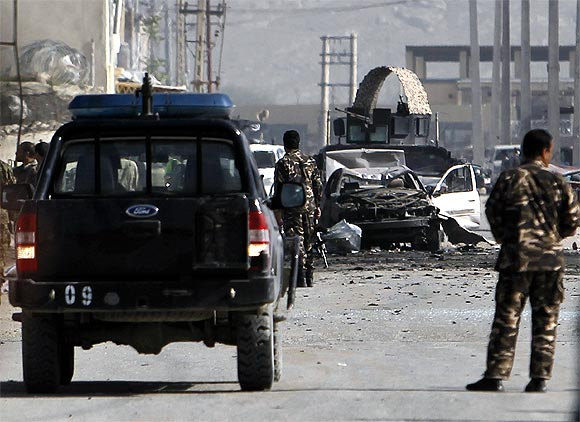 The car bomb exploded near Jalalabad Road
