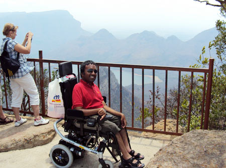 Srin at the Blyde River Canyon in South Africa