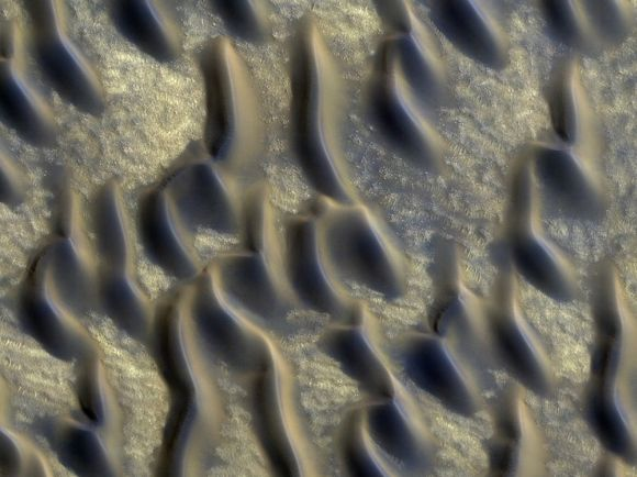 Glass dune fields are spread across almost a third of the Red Planet's northern hemisphere