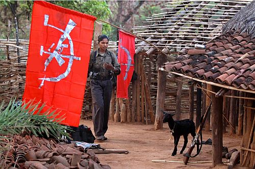 A female Naxalite in an Odisha village