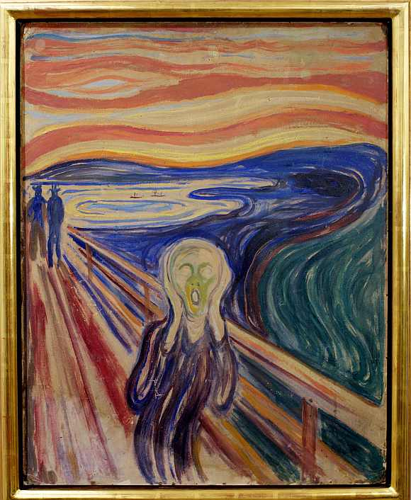 Edvard Munch's painting 'The Scream' is displayed in the Munch Museum in Oslo