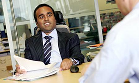 Srin at work