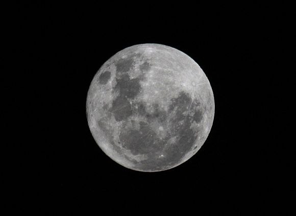 File picture of a Super Moon seen over La Paz city, Bolivia