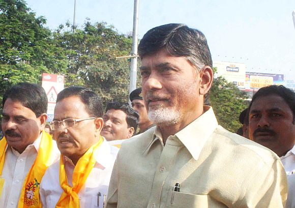 Is TDP, led by Chandrababu Naidu (in the picture), also a part in the ploy to restrict the Jagan wave?