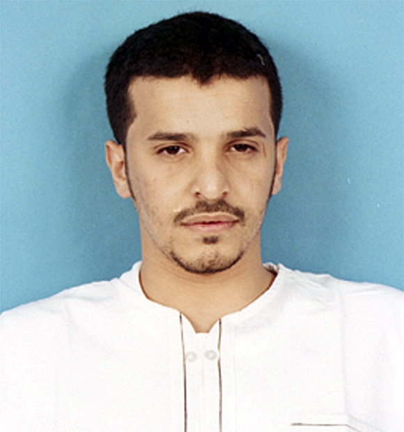 Handout picture of Saudi fugitive Ibrahim Hassan al-Asiri as seen at the Saudi interior ministry of the most wanted terror suspects