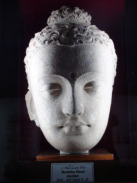 The Buddha at Taxila museum, established in 1928, with artifacts dating back to 600 BC. A century old Godrej safe vault is used to keep the invaluable jewellery in the museum