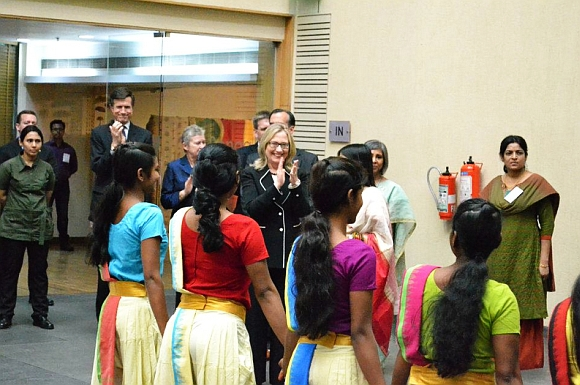 US Secretary of State Hillary Clinton at the Anti-Trafficking Champions Event in Kolkata