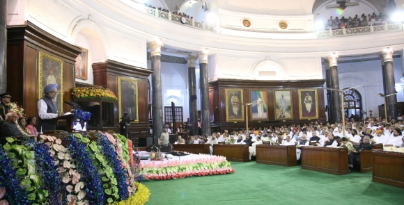 Prime Minister Manmohan Singh at the Parliamentary celebration