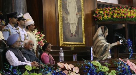 President Pratibha Patil addresses the gathering