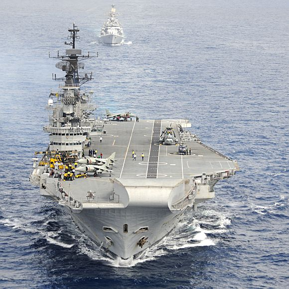 PICS: Viraat to leave for Mumbai by this month end