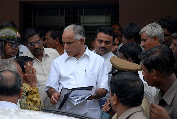 Why is Yeddyurappa cozying up to Sonia?