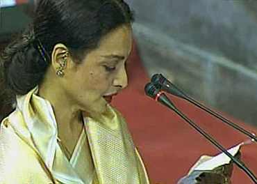 Actor Rekha sworn in