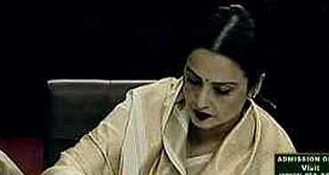 Rekha takes oath as Rajya Sabha MP