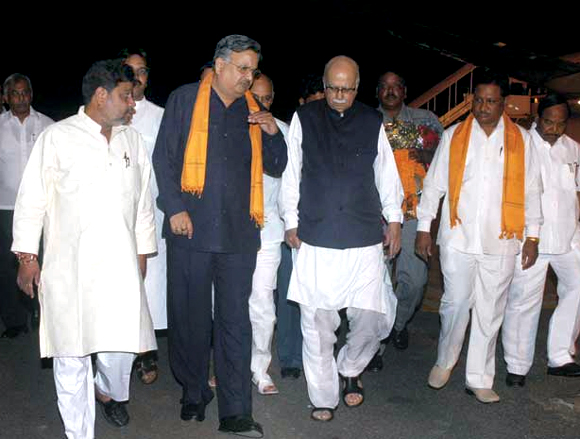 Dr Raman Singh with L K Advani