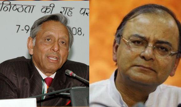 (Left) Mani Shankar Aiyar (Right) Arun Jaitley