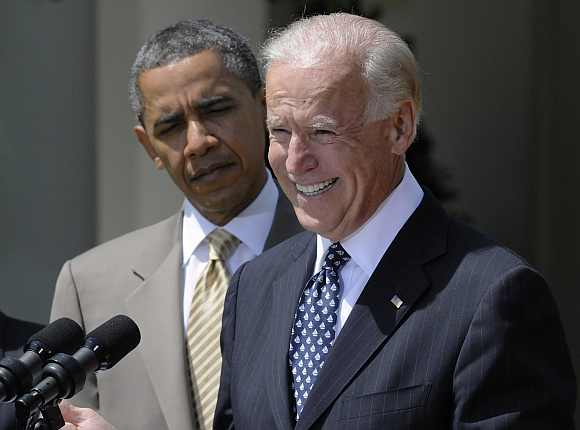 Obama and Vice President Biden at the White House in Washington