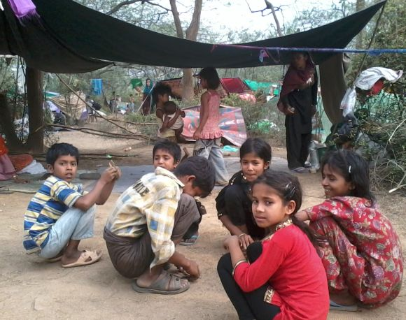 Most of the refugees who are camping in Delhi can't speak Hindi or English
