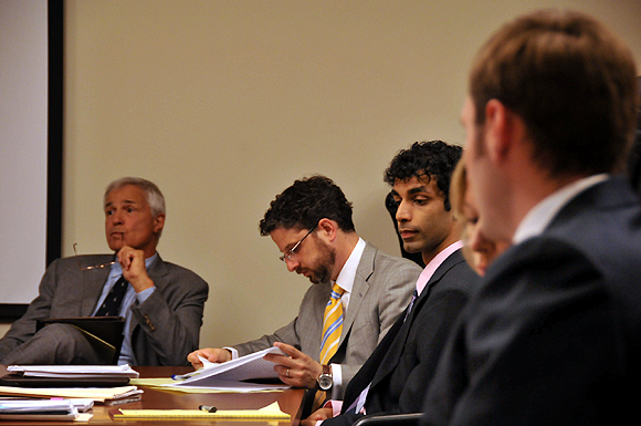 Dharun Ravi,  third from right, inside the courtroom