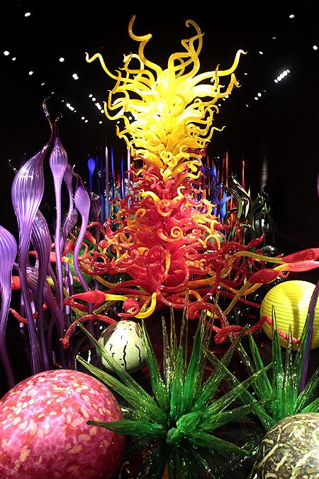 A scintillating garden of glass