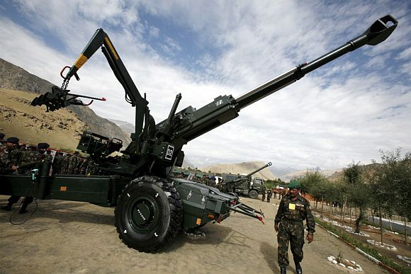 The Bofors gun on display