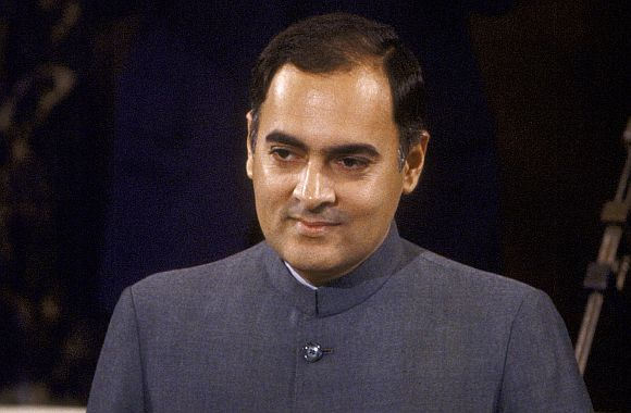 The late prime minister Rajiv Gandhi