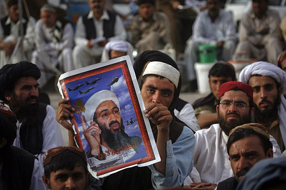 An anti-US rally in Pakistan
