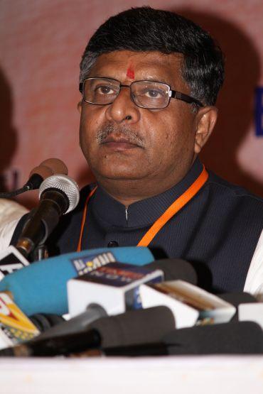 BJP spokesperson Ravi Shankar Prasad