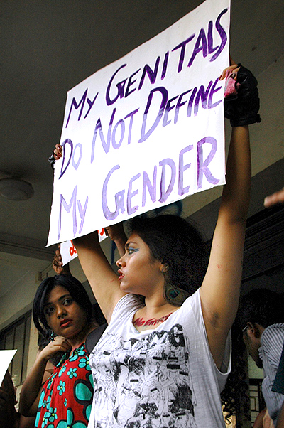 Holding placards with messages against sexual violence women participate in the demonstration