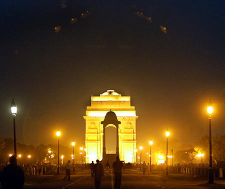 New Dehi's historic India Gate.