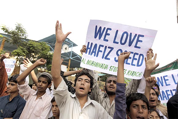 A rally in support of Hafiz Saeed