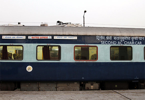 The Maitree Express at Dhaka Cantonment Station